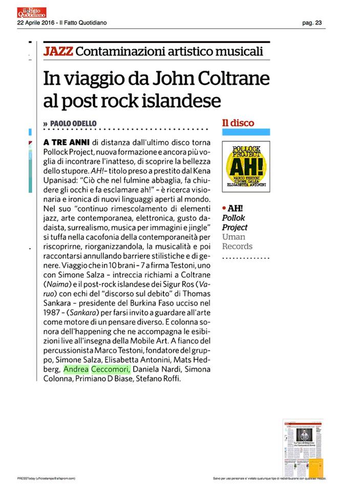 AH! recensione di Paolo Odello, Il Fatto
