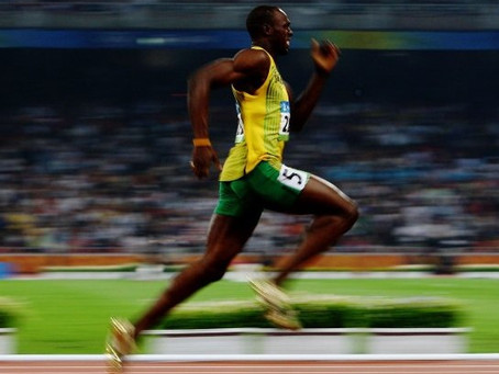 Usain Bolt: The world's fastest man & sprint legend epitomizes pure class during the US Anthem