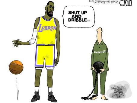 April 14, 2021 - Cartoon - The Hypocrisy & Ignorance of LeBron James