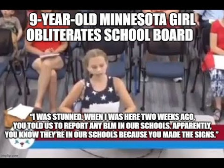 9-year-old school girl takes on Minnesota District School Board & their CRT-BLM Indoctrination