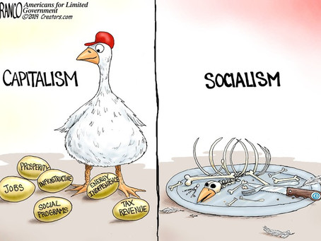 May 10, 2021 - Cartoon - Capitalism versus Socialism