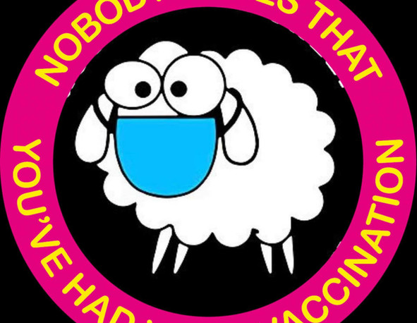 Nobody cares that you've had your vaccine .. not even real sheep!