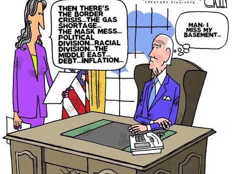 """June 4, 2021 - Biden is the """"Master of Crises"""" .. and he misses life in his basement"""
