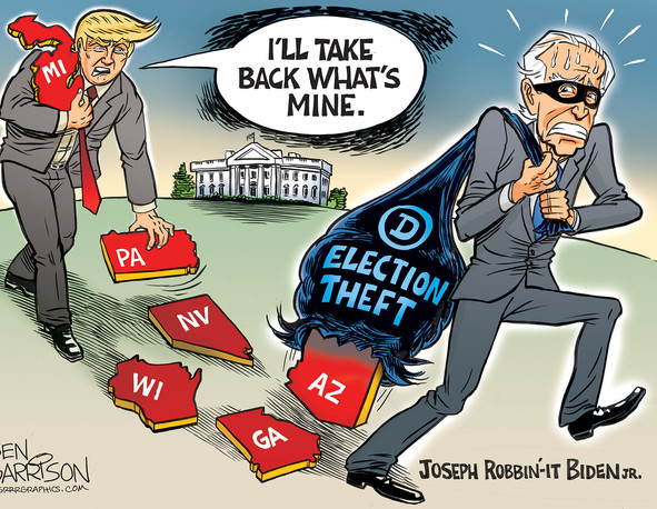 Illegitimate Joe has a huge hole in his 'Election Theft Bag'