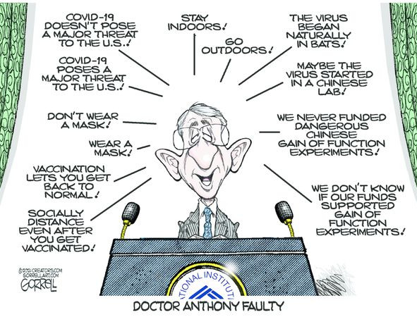 Dr. Anthony y'Faulty' Fauci
