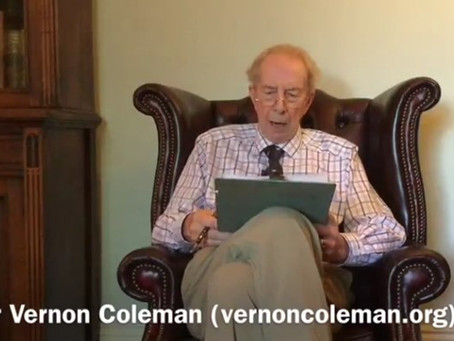 Dr. Vernon Coleman: UK based doctor presents an essay about today's new world (Video & Transcript)