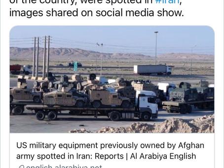 "Taliban Re-gifting US Military Weapons - Iran now enjoys ""Benefits"" of POS Biden's Treason"