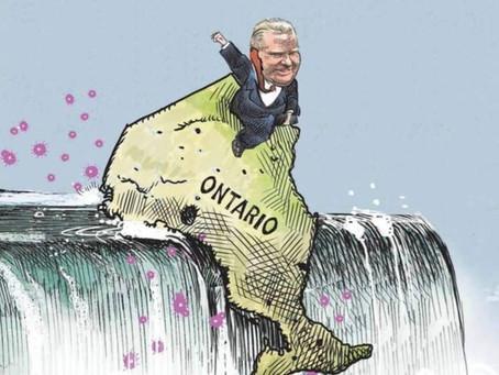 Premier Doug Ford: Announces his new plan to deliver even more despair & failure to Ontario