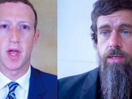 The Unsettling Faces of Facebook & Twitter: Mark Zuckerberg & Jack Dorsey