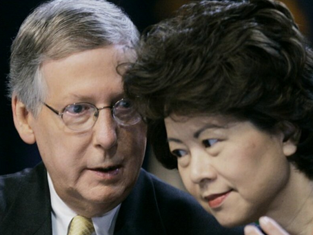 """China Mitch McConnell and Corrupt Elaine Chao - A Marriage """"Made in China"""""""