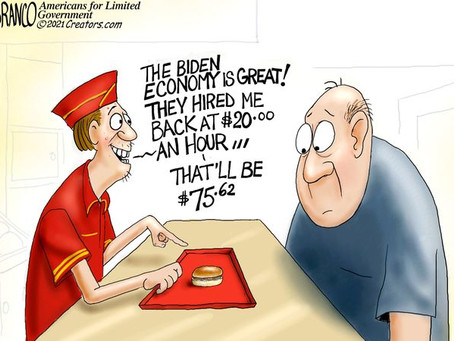 The 'Biden-Economy Burger' - expensive, foul meat & no toppings