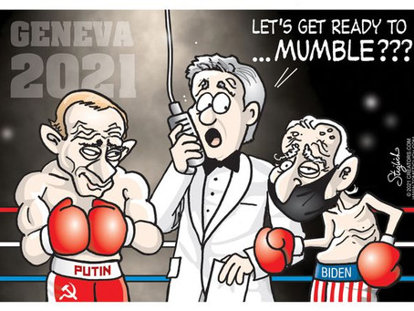 "Putin vs Biden in Geneva 2021 .. ""Let's get ready to Mumble"""