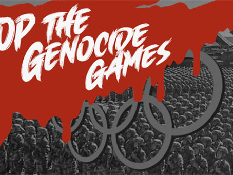 Stop the 2022 CCP Olympics - protest the mass slaughter of the Uyghurs, Falun Gong & Christians!
