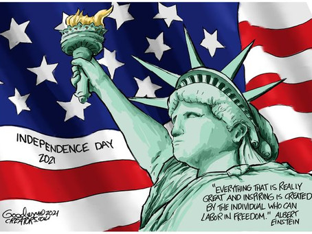 Independence Day should remind us all of the importance of Freedom this July 4th weekend