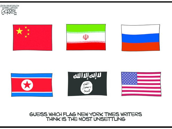 """The New York Times (NYT) considers the US flag """"the most unsettling flag"""""""