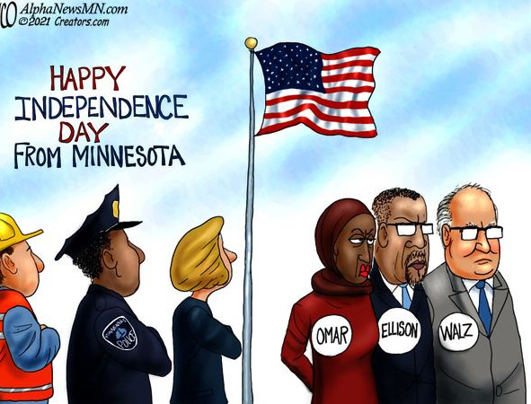 Independence Day in Minnesota - a celebration contaminated by Omar, Ellison, and Walz