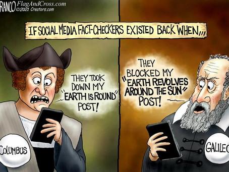 June 3, 2021 - Columbus & Gilileo meet today's so called Social Media Fact-Checkers