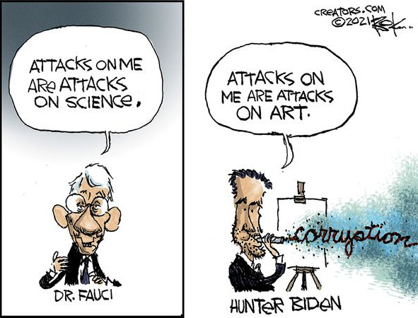 Apparently Anthony Fauci is Science and Hunter Biden is Art