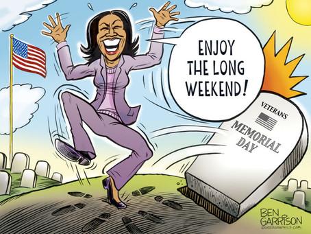 "Memorial Day Weekend ""is just another long weekend"" to Kamala Harris"
