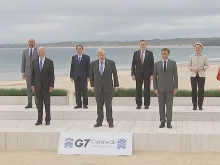 The G7 Morons 'Strike a Pose' in Cornwall England