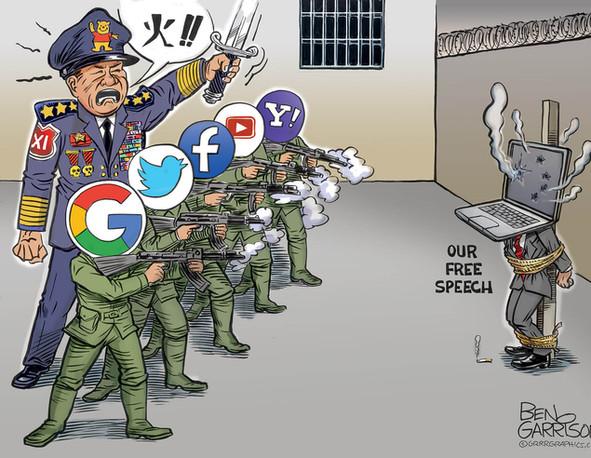 Xi Jinping & his Free Speech Tech Tyrant Firing Squad
