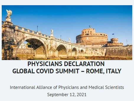 PHYSICIANS DECLARATION GLOBAL COVID SUMMIT – ROME, ITALY