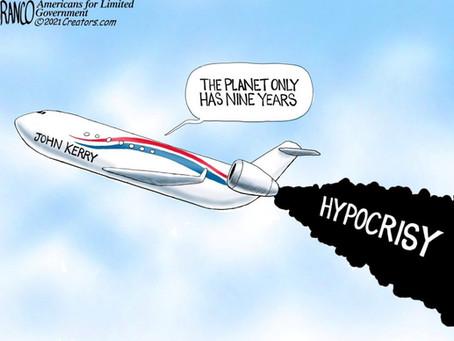 May 8, 2021 - Cartoon - John Kerry & his Hypocritical Mythology of Climate Change