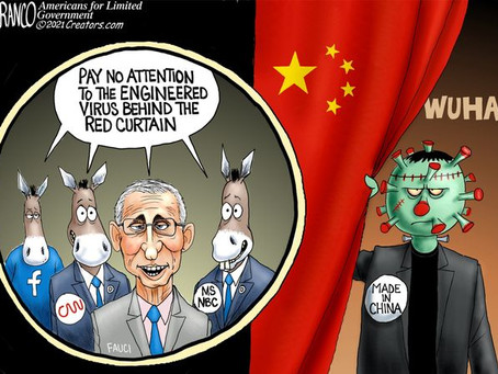 Fauci, Social Media & MSM are all tied to the dirty Covid secret hiding behind the CCP Red Curtain