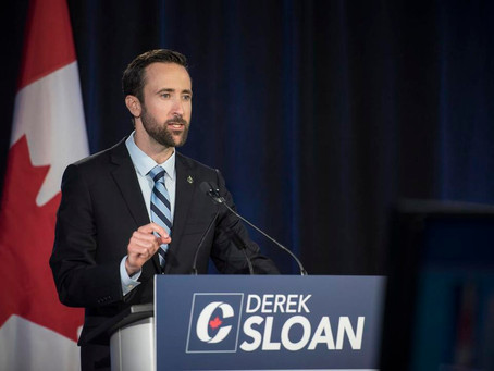 Conservative Politician Derek Sloan carries the torch of courage in Canada