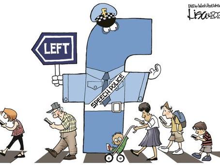 May 7, 2021 - Cartoon - Facebook Speech & Thought Police