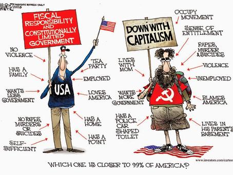 """May 13, 2021 - Cartoon - Capitalism versus Communism in """"Profile"""""""