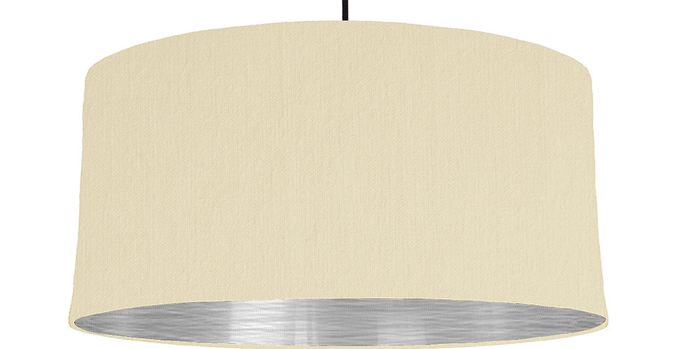 Natural & Brushed Silver Lampshade - 60cm Wide
