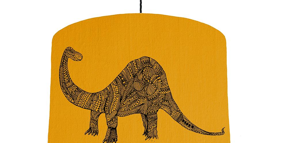 Dinosaur Shade - Mustard Fabric