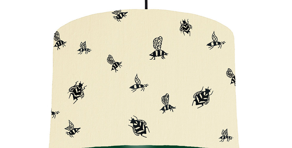 Bumble Bee Lampshade - Natural & Forest Green