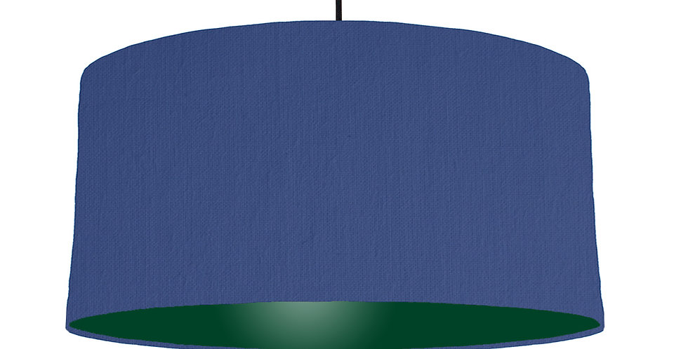 Royal Blue & Forest Green Lampshade - 60cm Wide
