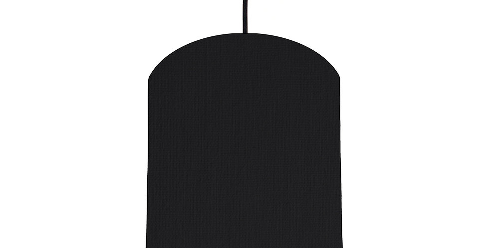Black & Brushed Copper Lampshade - 20cm Wide