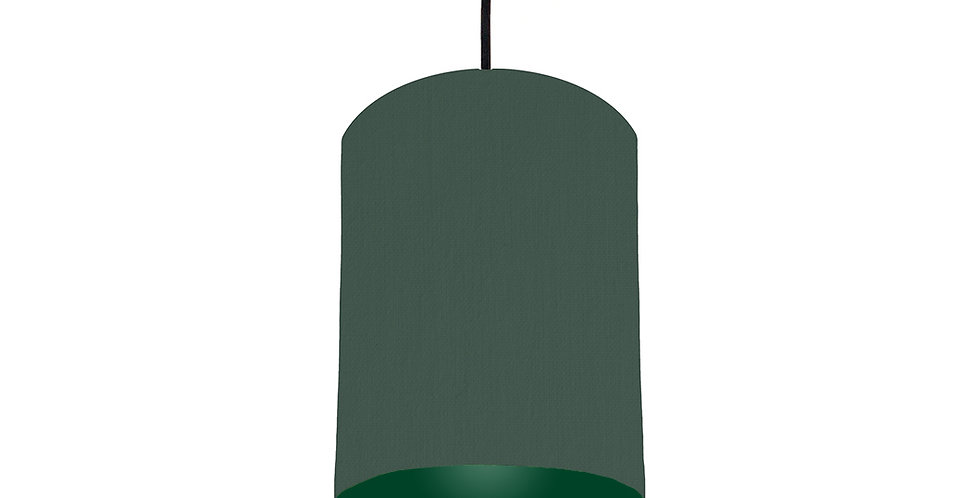 Bottle Green & Forest Green Lampshade - 15cm Wide