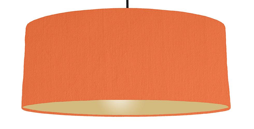 Orange & Gold Matt Lampshade - 70cm Wide