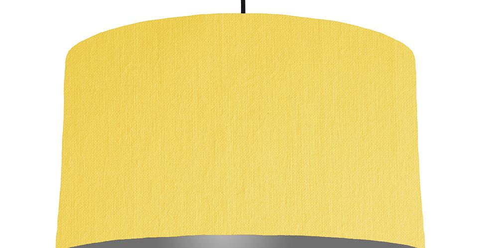 Lemon & Dark Grey Lampshade - 50cm Wide