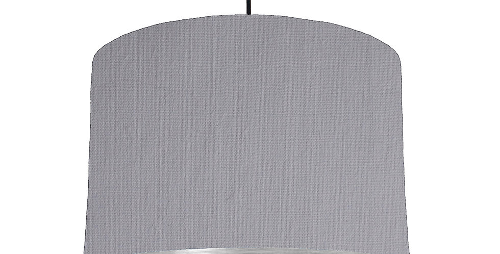 Light Grey & Brushed Silver Lampshade - 30cm Wide