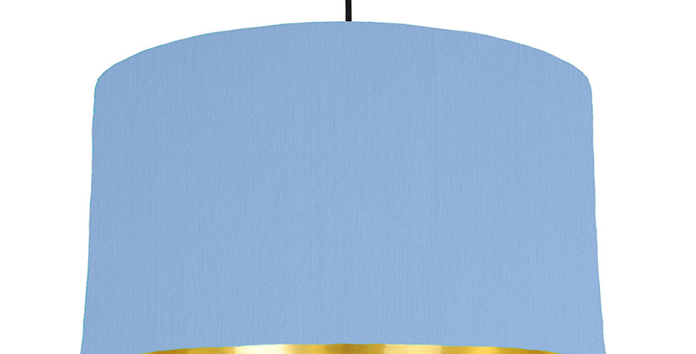 Sky Blue & Gold Mirrored Lampshade - 50cm Wide