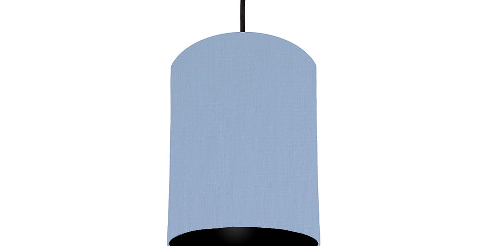 Sky Blue & Black Lampshade - 15cm Wide