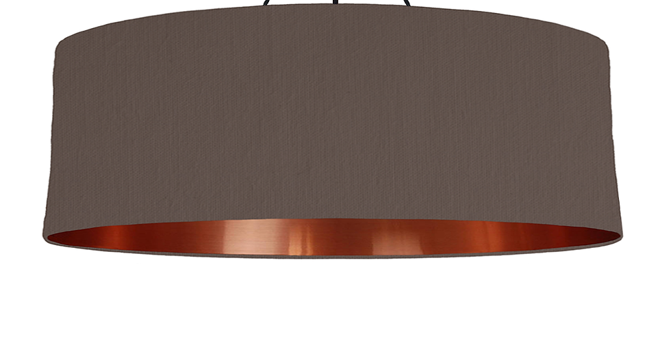 Brown & Copper Mirrored Lampshade - 100cm Wide