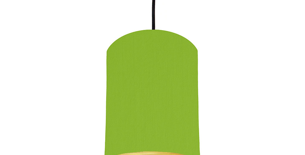 Pistachio & Brushed Gold Lampshade - 15cm Wide