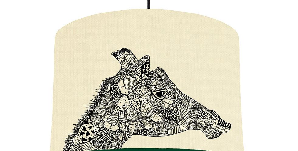 Giraffe - Natural & Forest Green