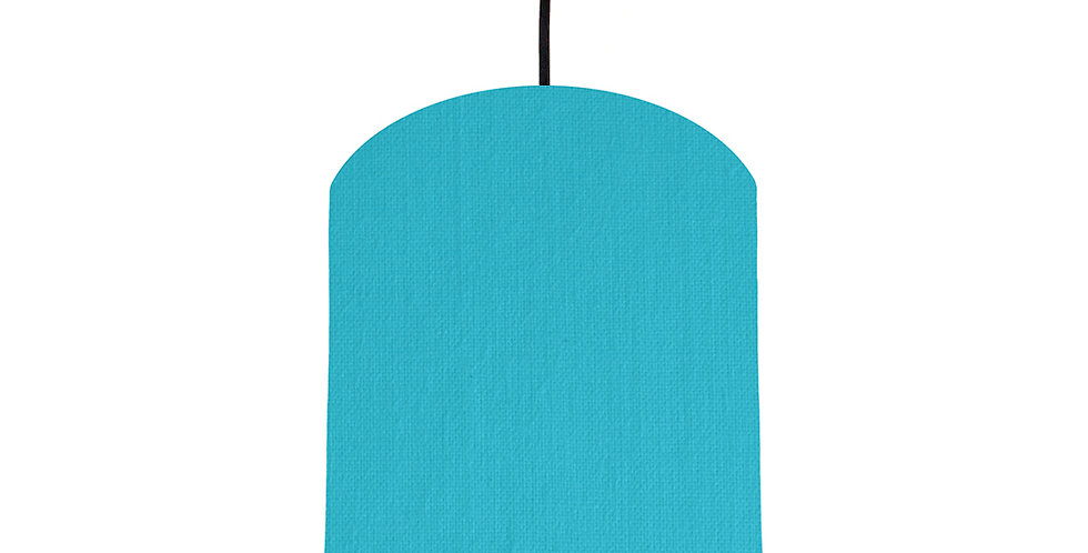 Turquoise & Black Lampshade - 20cm Wide