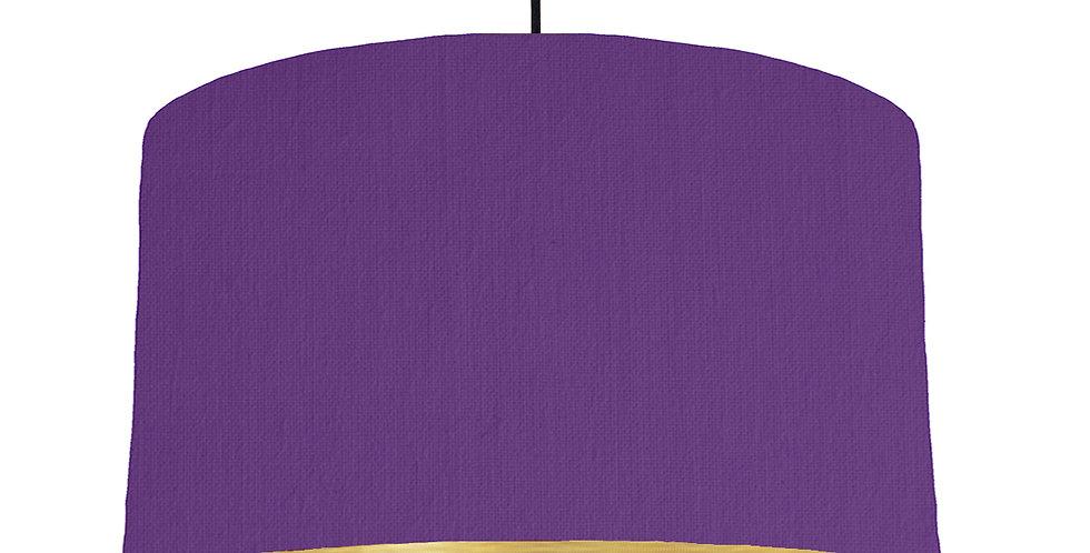 Violet & Brushed Gold Lampshade - 50cm Wide