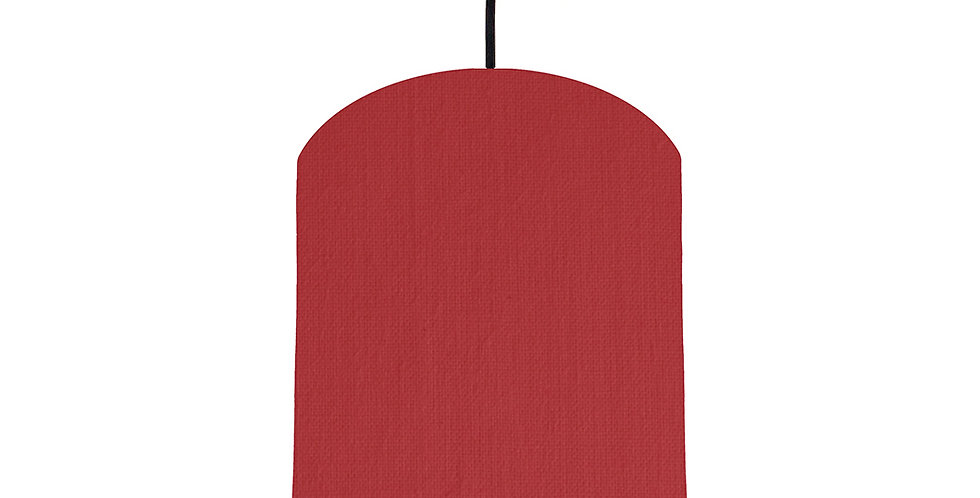 Red & Forest Green Lampshade - 20cm Wide