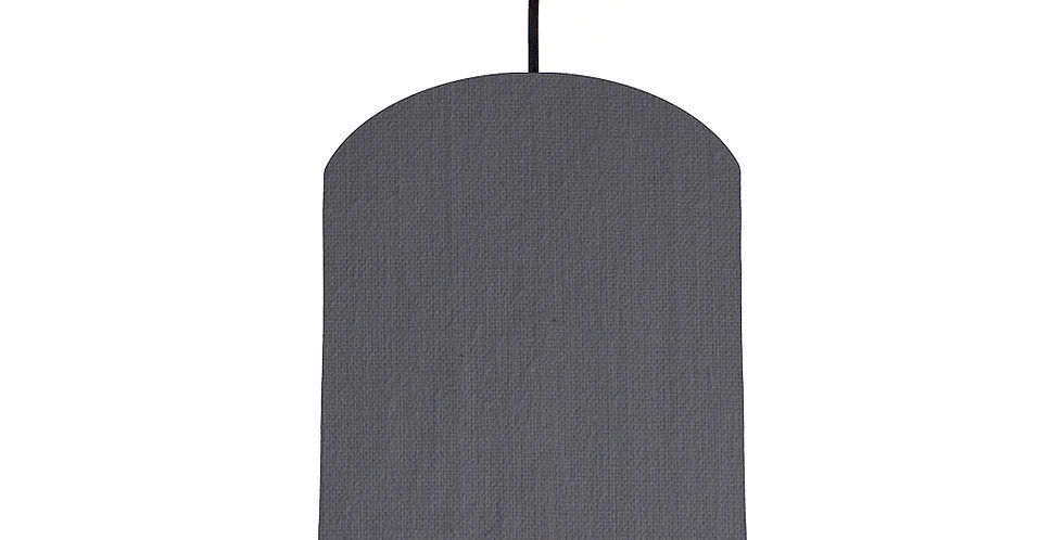 Dark Grey & Brushed Gold Lampshade - 20cm Wide