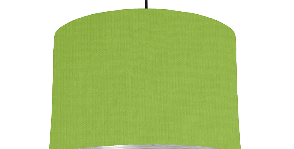 Pistachio & Brushed Silver Lampshade - 30cm Wide